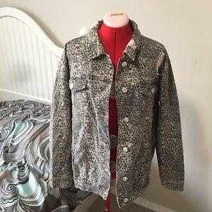 Ashley Mason leopard print distressed jacket